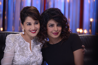 Madhuri Dixit with Priyanka Chopra